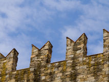 Ancient fortified walls. Detail of ancient fortified walls in Arezzo Stock Photo