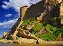Ancient fortress. Ancient fortress and rock of a shell rock. Town Belgorod-Dnestrovskiy, old name is Akkerman. The South of Ukraine Stock Photo