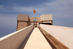 Ancient fortress in Aguilas, Spain. Ancient fortress in mediterranean town Aguilas, province of Murcia, Spain Stock Photos