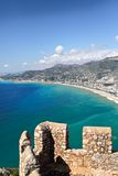 Ancient fortress in Alanya. Royalty Free Stock Photography