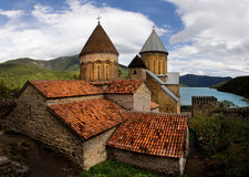 Ancient Fortress Ananuri in Georgia, Europe Stock Images