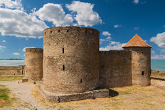 Ancient fortress in Belgorod Dniester. Three towers Stock Image