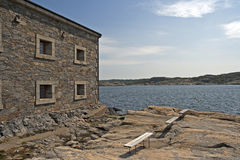 Ancient fortress building on Marstrandsön Royalty Free Stock Photography