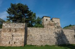 Ancient fortress called Momcilov grad in Pirot city park in Serb. Ia Stock Photos