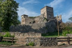 Ancient fortress called Momcilov grad in Pirot city park in Serb. Ia Royalty Free Stock Image