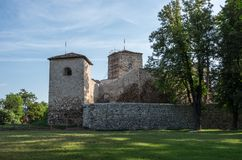 Ancient fortress called Momcilov grad in Pirot city park in Serb. Ia Stock Photography