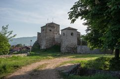 Ancient fortress called Momcilov grad in Pirot city park in Serb. Ia Stock Images