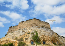 Ancient fortress of Cartagena from bottom Royalty Free Stock Photos