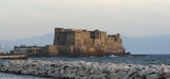 The fortress Castel dellOvo of Naples in Italy Royalty Free Stock Photos