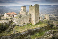 Ancient fortress and castle in Marialva historical village. Guarda, Portugal Royalty Free Stock Photography