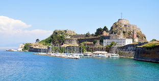 The ancient fortress city of Corfu, Greece, Europe Royalty Free Stock Image