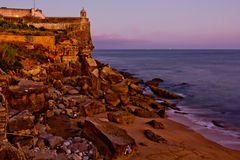 Ancient fortress on the cliff Stock Photography