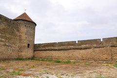 Ancient fortress in cloudy day Stock Photo