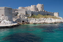 Ancient fortress on coast. Chateau d'If, Marseille, France Royalty Free Stock Photography