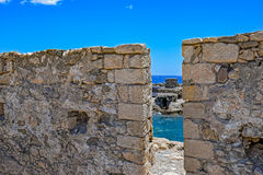 Ancient fortress in Crete Royalty Free Stock Photos