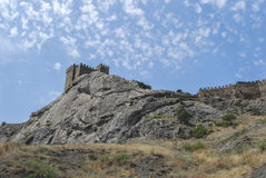 Ancient fortress in Crimea. Sudak Royalty Free Stock Photo