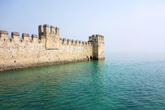 Ancient fortress or fort and sea space Royalty Free Stock Image