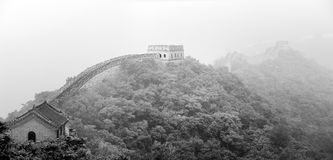 Ancient fortress, Great Wall of China, Beijing. Ancient fortress guarding Great Wall of China in Beijing during summer Stock Photography