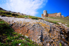 Ancient fortress on hill Royalty Free Stock Photos
