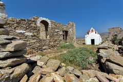 Ancient Fortress, island of Mykonos, Cyclades Islands Stock Images