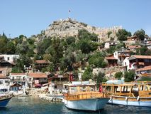 Ancient fortress in Kekova. Turkey Royalty Free Stock Photo
