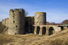The ancient fortress of Koporje. The ancient fortress of Koporye in the Leningrad region Stock Photo