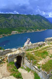 Ancient fortress and Kotor bay view,Montenegro Royalty Free Stock Image