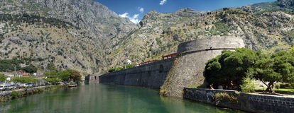Ancient fortress in Kotor, Croatia Royalty Free Stock Image