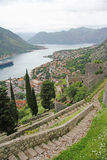 Ancient fortress in Kotor, Montenegro Stock Images
