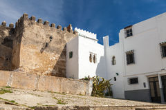Ancient fortress and living houses. Madina,Tangier Stock Photos