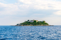 Ancient fortress is located on the island of Mamula. Boka-Kotor Bay. Montenegro Stock Image