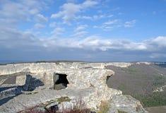 Ancient fortress Mangup-Kale (Crimea) Stock Photo