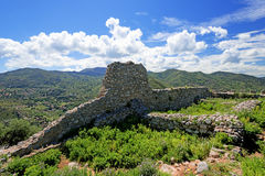 Ancient fortress on mountain in Cefalu city on Sicily island Stock Photo