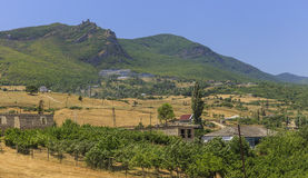 Ancient fortress on a mountain top Galaalty Royalty Free Stock Photography