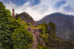 Ancient fortress in the mountains Stock Image
