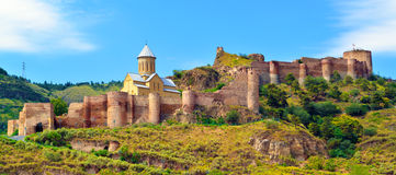 Ancient fortress Narikala inTbilisi Royalty Free Stock Images