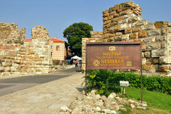 Ancient fortress in Nessebar Stock Photos