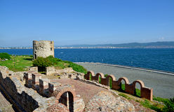 Ancient fortress in Nessebar, Bulgaria Stock Photos