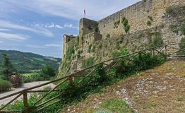 Ancient fortress in the province of of Tuscany in Italy.  royalty free stock photo
