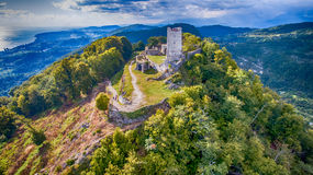 Ancient fortress with the remnants Royalty Free Stock Image