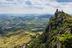 Ancient fortress of Republic San Marino Stock Photography