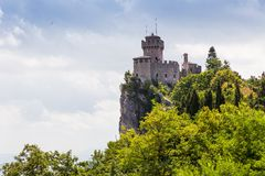 Ancient fortress of Republic San Marino Stock Images