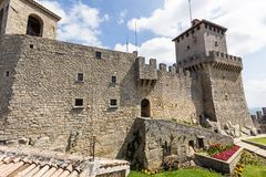 Ancient fortress of Republic San Marino Royalty Free Stock Image