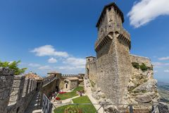 Ancient fortress of Republic San Marino Royalty Free Stock Images