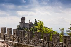 Ancient fortress of Republic San Marino Stock Photos