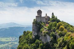 Ancient fortress of Republic San Marino Stock Photo
