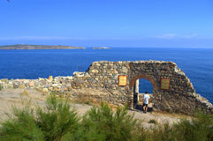 Ancient fortress ruins,Sozopol Stock Image