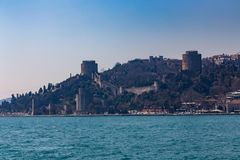 The ancient fortress Rumelihisari is a fortress located on a hill at the European side of the Bosphorus, Turkey royalty free stock images