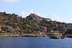 The ancient fortress of Simena, Turkey Stock Photo