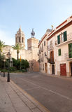 Ancient fortress in Sitges, outdoors Royalty Free Stock Photography